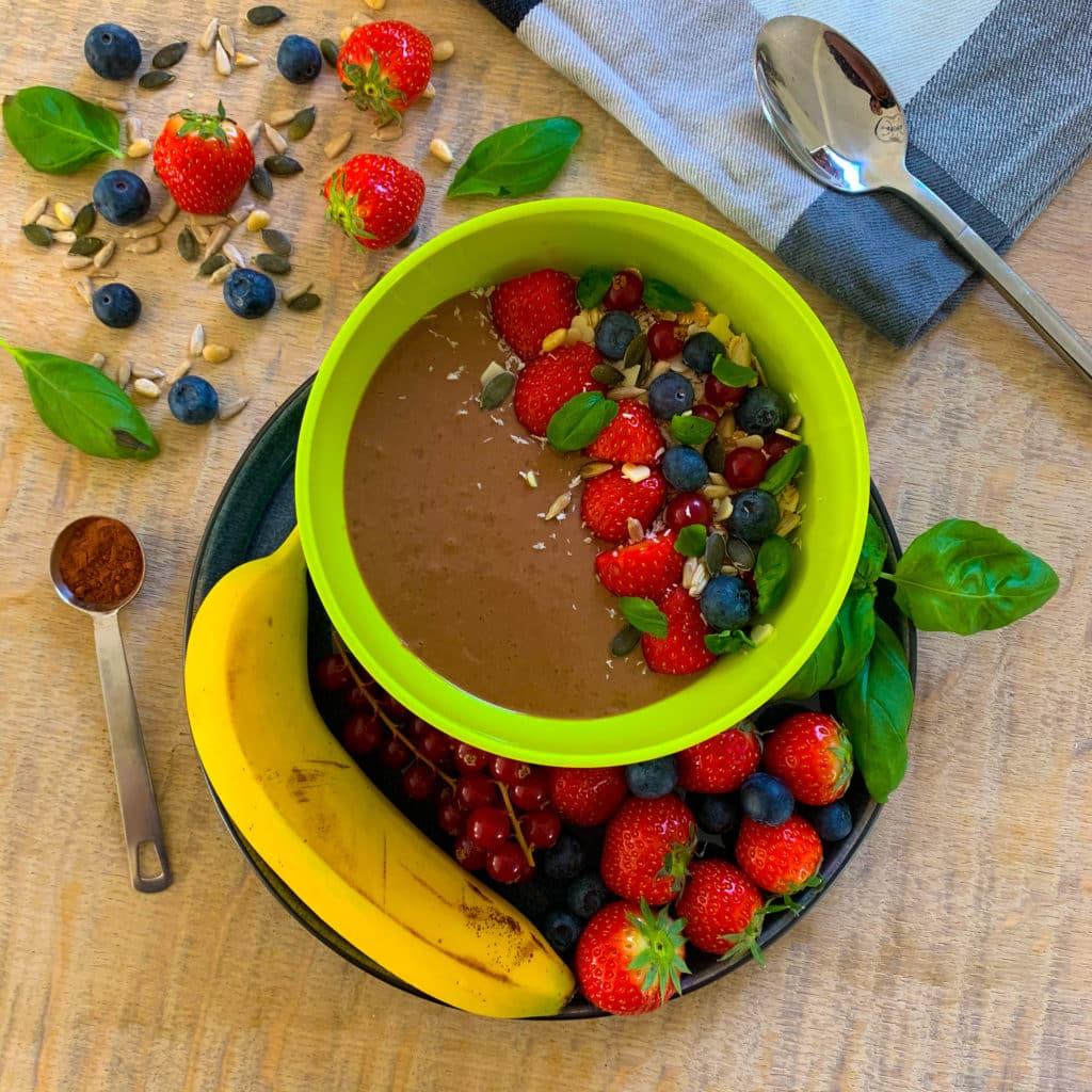 Chocolade avocado smoothie