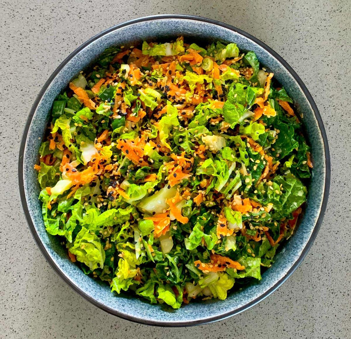 Japanse salade met kool en wortel