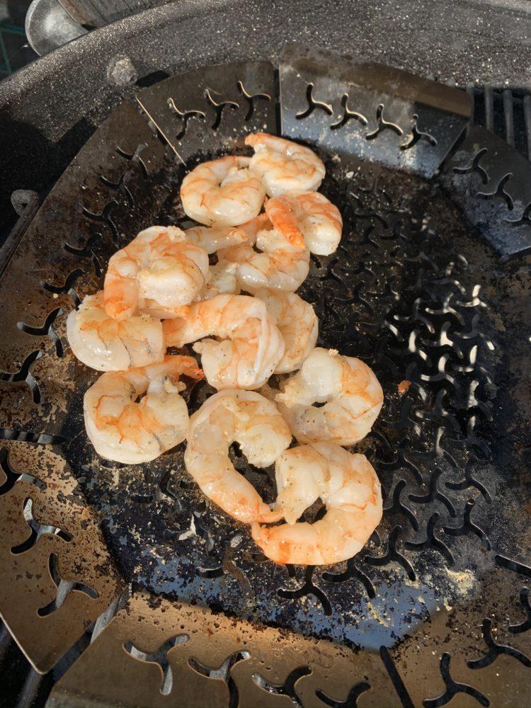 Gamba's bakken voor paella