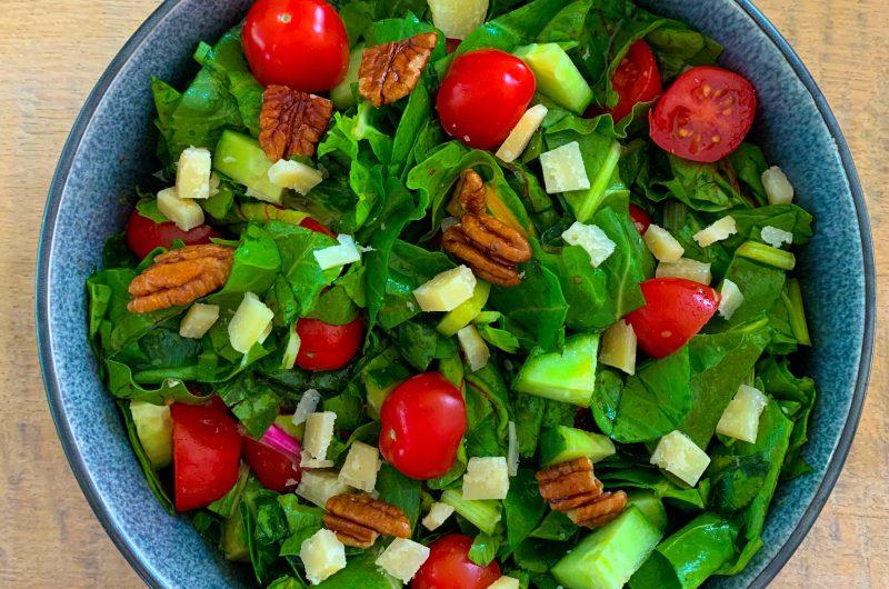 Snijbiet salade met balsamico dressing