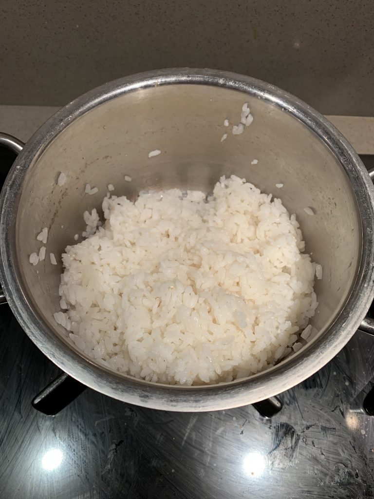 Sushi rijst koken 11