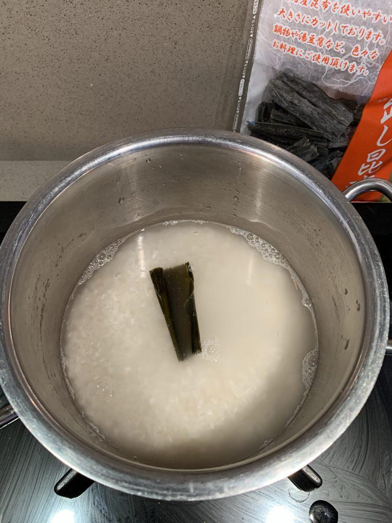 Sushi rijst koken 3 kombu