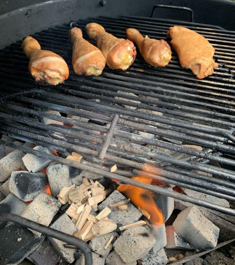 Kip voor pulled chicken op bbq
