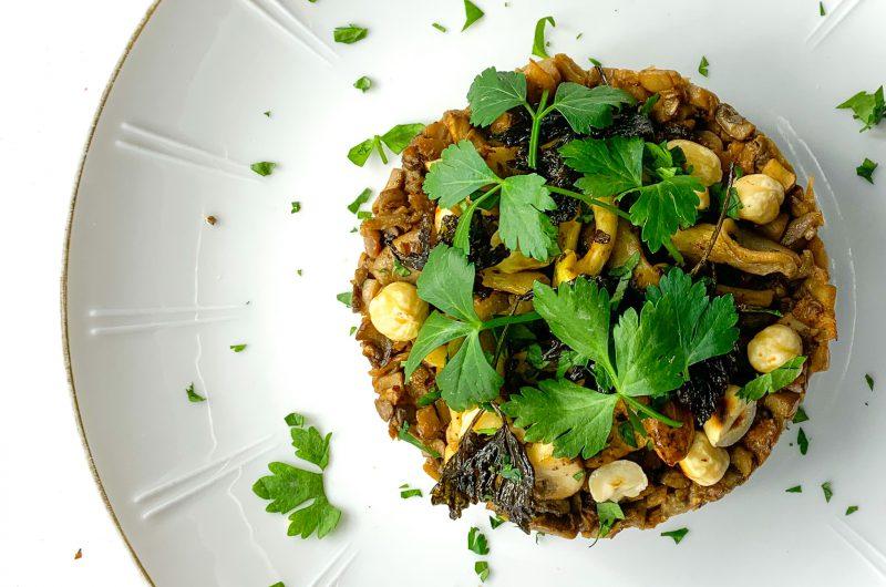 Vegetarische paddenstoelen tartaar
