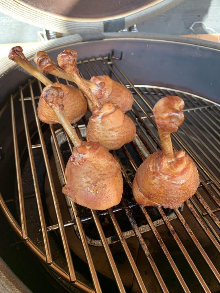 Chicken lollipops op de bbq roken