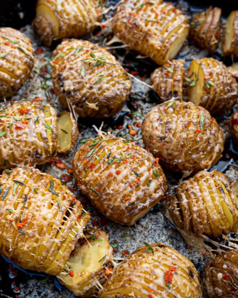 Hasselback aardappelen bbq
